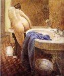 Mujer entrando en la bañera, 1973