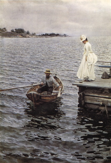 Anders Zorn, imo the artist who best can paint water with watercolours.