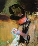 Young Woman Sewing, 1890