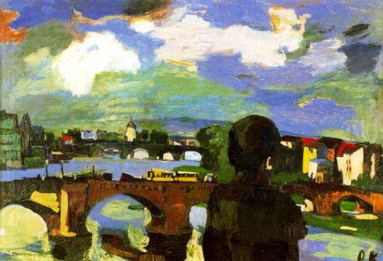 dresde-los-puentes-del-elba-con-figura-de-espaldas-1923