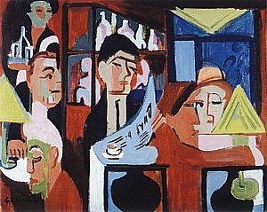 Cafe in Davos, 1928