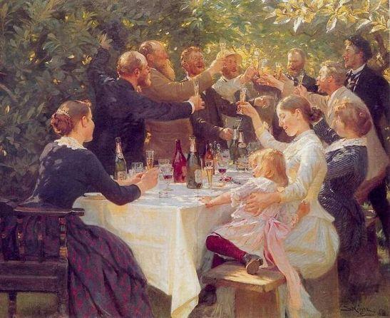 Hip hip hurra! Kunstnerfest på Skagen 1888.
