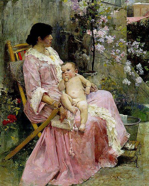 La joven madre, 1889