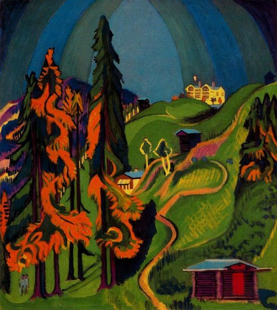 paesaggio-autunnale-sertg-autunnale-il-kurhaus-chavadel, 1936