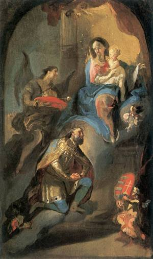 St Stephen offering his crown to Virgin Mary, 1772, 1774