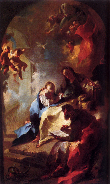 The education of Mary, 1755