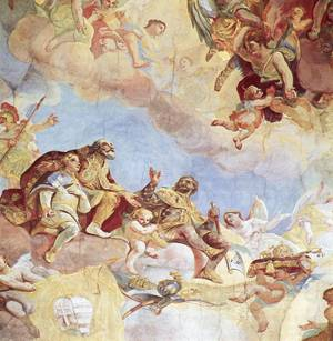 Triumph of the Trinity, detail, 1771, 1772
