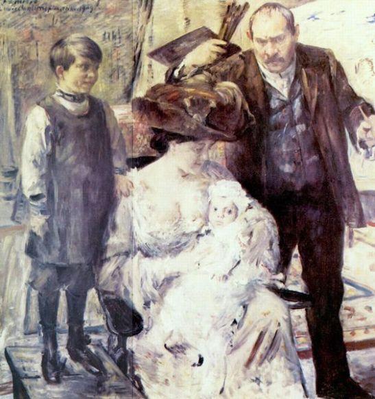 der-kunstler-und-seine-familie-familienportrat-1909