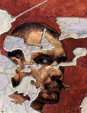 Self-Portrait in Fresco, 1894.