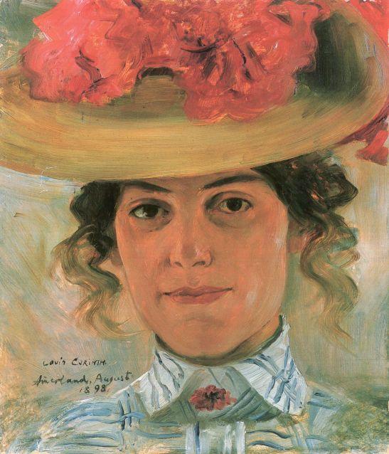 portrat-frau-halbe-mit-strohhut-1898