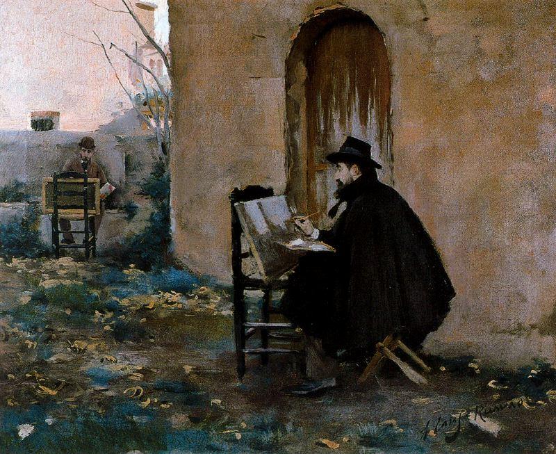 SANTIAGO RUSIÑOL Santiago-rusinol-y-ramon-casas-retratandose-1890