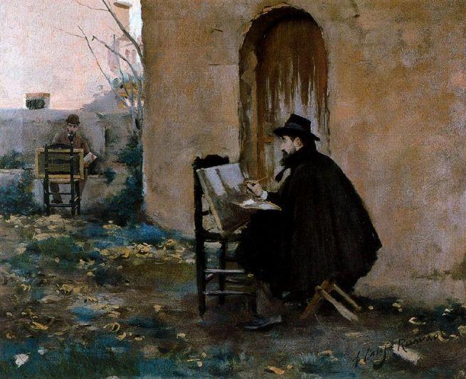 santiago-rusinol-y-ramon-casas-retratandose-1890