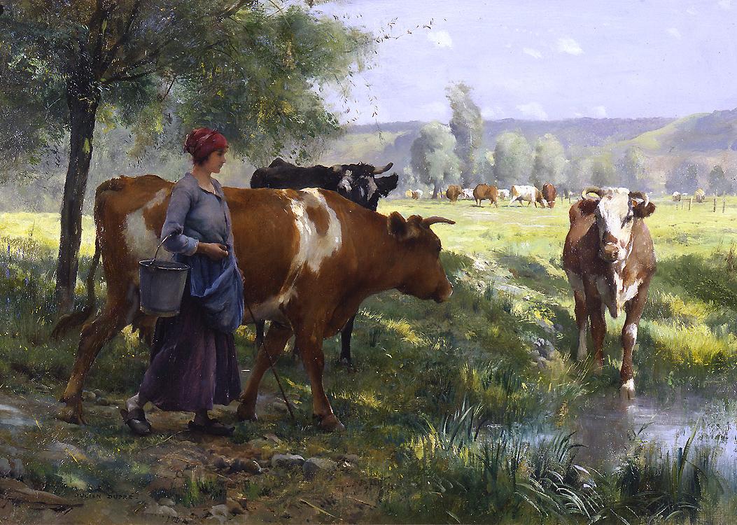 Julian dupre 1851 1910 arte artistas - Cuadros de vacas ...