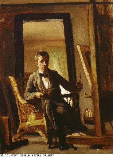 Artist at Easel, Self Portrait