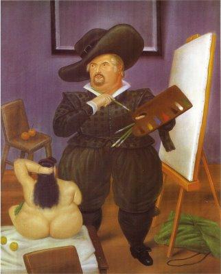autorretrato con disfraz de velasquez, fernando botero