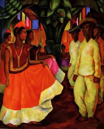 baile en tehuantepec, diego rivera