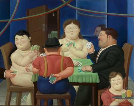 jugadoras de cartas ii, fernando botero