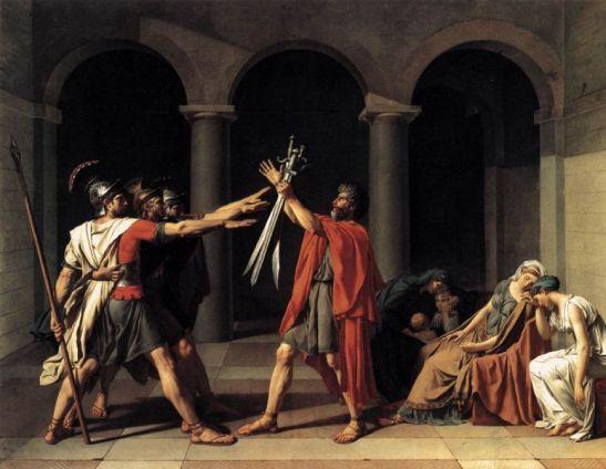 Juramento de los Horacios, 1784