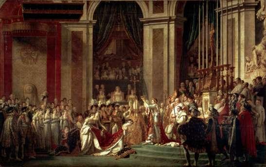 La coronacion de Napoleon y Josefina, 1804