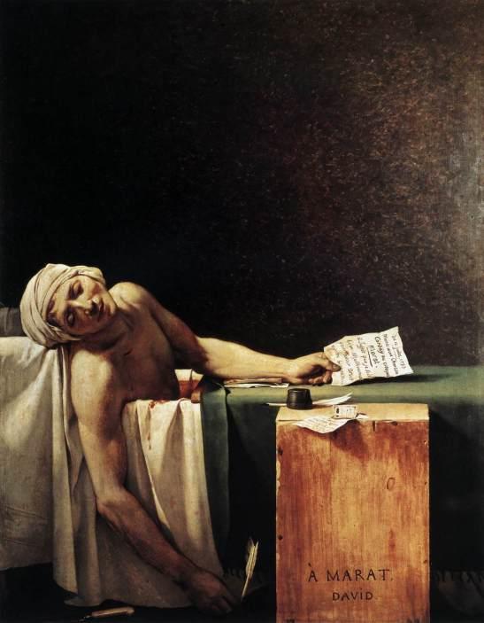 La muerte de Marat, 1793