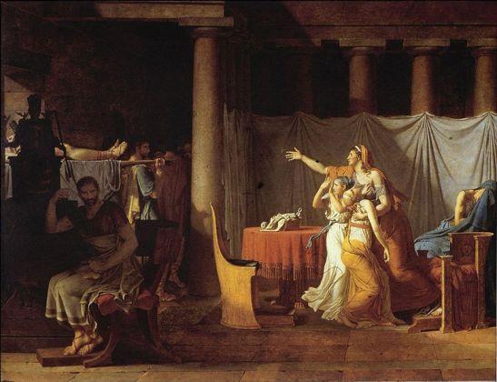 Los lictores llevan a Bruto el cuerpo de sus hijos, 1789