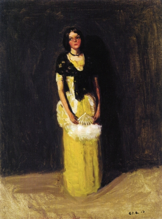 Singer with fan, 1912