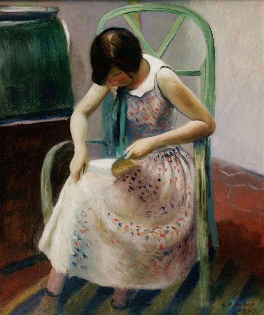 Girl reading a book, 1929