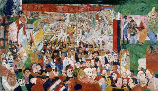 """Entrada de Cristo en Bruselas"""" 1888"""
