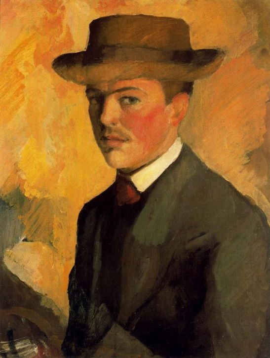 autoretrato-con-sombrero-1909