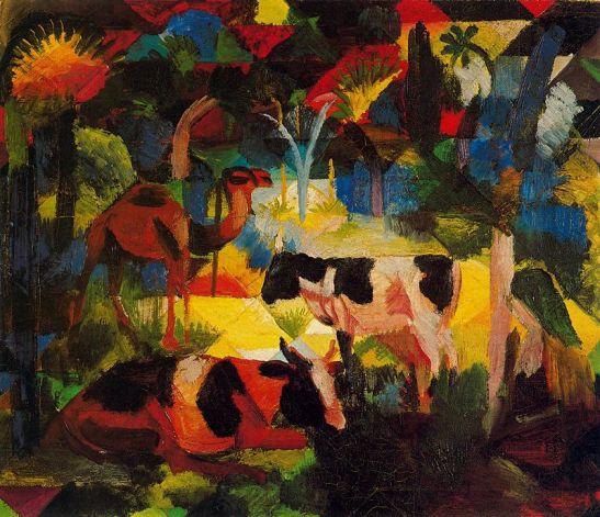 paisaje-con-vacas-y-camello-1914