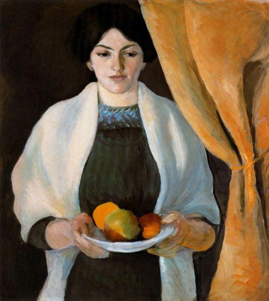 retrato-con-manzanas-mujer-del-artista-1909