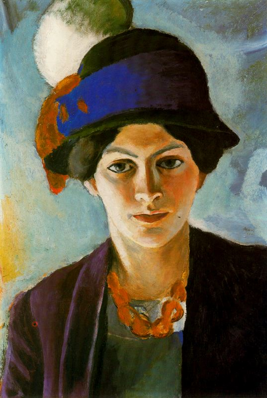 retrato-mujer-del-artista-con-sombrero-1909