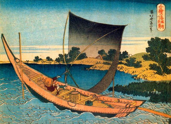 Il fiume Tone nella provincia di Shimosa, 1833