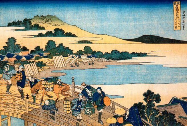 Il ponte di Fukui nello Echizen, 1834