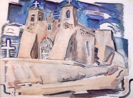 Old Church, at Ranchos, New Mexico, 1930
