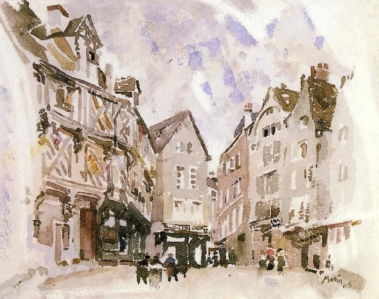 Old Houses, Chartres, 1908