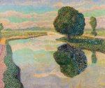 Landschap met vaart, 1889
