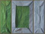 Triptico azul y verde, 2010